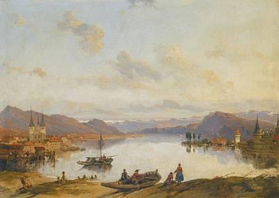 Switzerland Painting - London View Of Lucerne Switzerland by MotionAge Designs