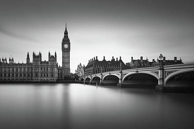 Westminster Photograph - London, Westminster Bridge by Ivo Kerssemakers