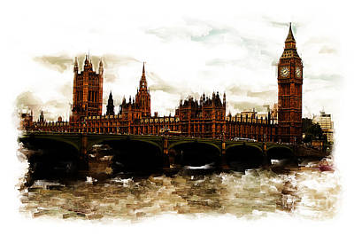 City Scape Painting - London Westminster  by Gull G