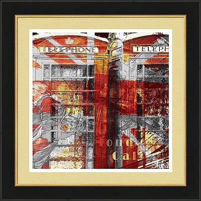 Digital Art - London's Calling Framed Print by Fine Art By Andrew David