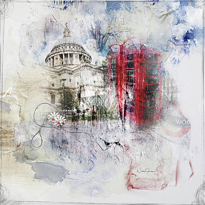 Digital Art - London's Ephemera by Nicky Jameson