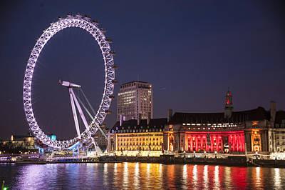 Thomas Kinkade Royalty Free Images - Londons Eye Royalty-Free Image by Richard Nowitz