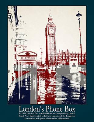 Westminster Abbey Photograph - Londons Phone Box by Stephanie Hamilton