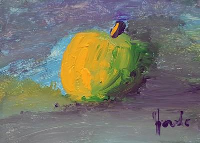 Painting - Lone Apple by Steve Jorde