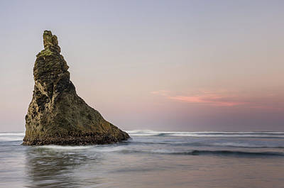 Photograph - Lone Bandon Sea Stack At Dawn by Greg Nyquist