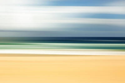 Abstracted Photograph - Lone Beach by Az Jackson