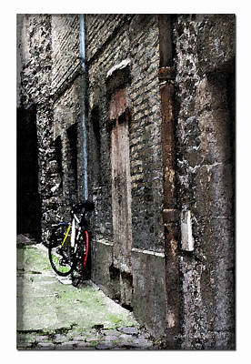 Photograph - Lone Bike In France by Joan  Minchak