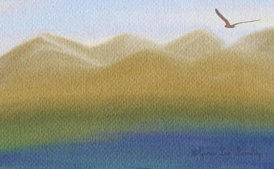 Gina Manley Painting - Lone Bird Soaring by Gina Lee Manley