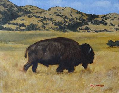 Painting - Lone Bison by Stacy Williams