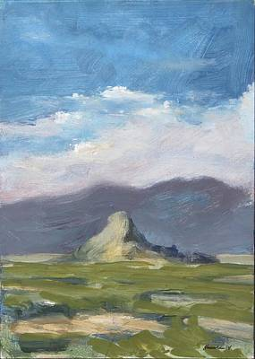 Hacunda Wall Art - Painting - Lone Butte by Robert James Hacunda