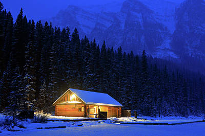 Photograph - Lone Cabin In The Rockies by James Kirkikis