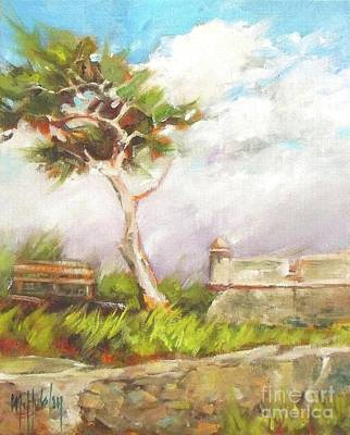 Cedar Park Painting - Lone Cedar by Mary Hubley