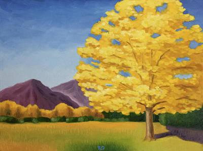 Painting - Lone Cottonwood by Robert J Diercksmeier