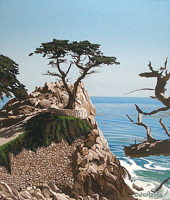 Carmel By The Sea Painting - Lone Cypress by Joe Roselle