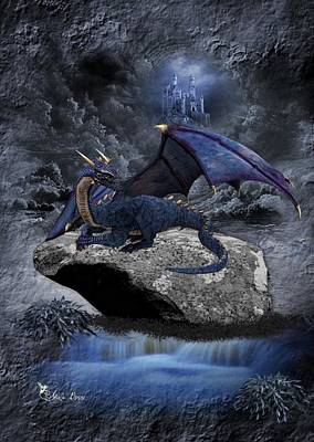 Digital Art - Lone Dragon by Ali Oppy