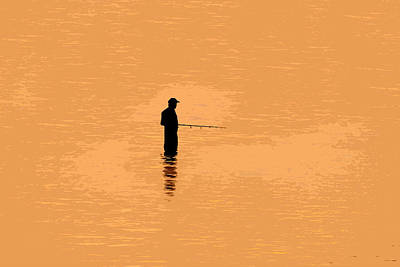 Lone Fisherman Art Print by David Lee Thompson