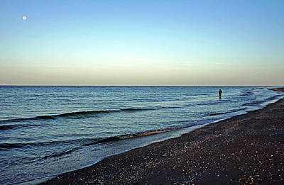 Photograph - Lone Fisherman On The Beach by Debbie Oppermann