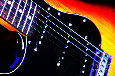 Art Print featuring the photograph Lone Guitar by Baggieoldboy