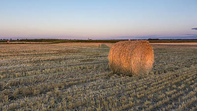 Photograph - Lone Hay Bale by Josef Pittner