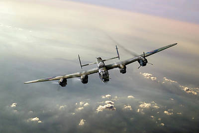 Digital Art - Lone Lancaster by Gary Eason