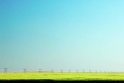 Lone Line Of Poles Print by Todd Klassy