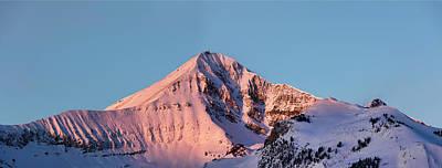 Photograph - Lone Mountain Alpenglow Panoroama by Mark Harrington