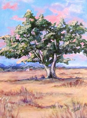 Lone Oak Art Print by Barbara O'Toole