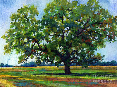 Large Painting - Lone Oak by Hailey E Herrera