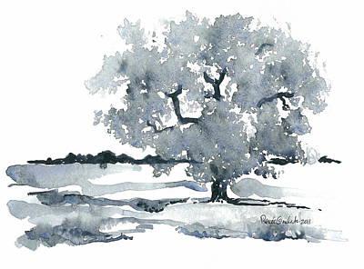 Painting - Lone Oak by Renee Goularte
