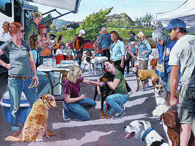 Painting - Lone Oak Vaccine Clinic by Nadi Spencer