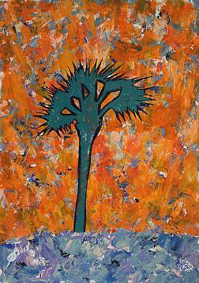 Painting - Lone Palmetto Original Painting by Sol Luckman