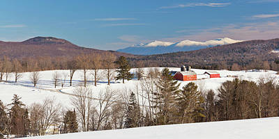 Photograph - Lone Pine Farm Winter Panorama by Alan L Graham