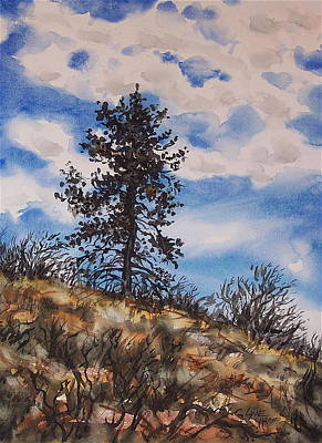 Painting - Lone Pine by Lynne Haines