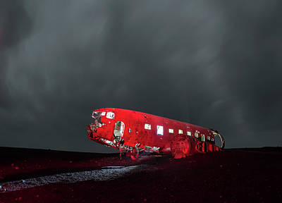 Photograph - Lone Plane In The Middle Of Nowhere, Iceland by Pradeep Raja PRINTS