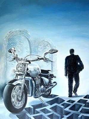 Bondi Painting - Lone Rider by Yelena Revis