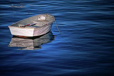 Lone Rowboat Art Print