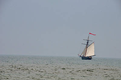 Photograph - Lone Ship At Sea by David Arment