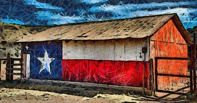 Photograph - Lone Star Barn Of Texas by Studio Artist