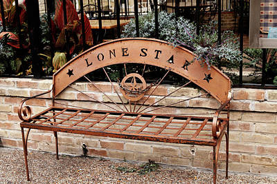 Photograph - Lone Star Bench by Art Block Collections