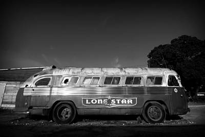 Lone Star Bus 1 Art Print by John Gusky