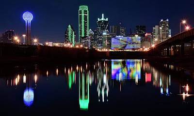 Photograph - Lone Star Dallas Pano by Frozen in Time Fine Art Photography