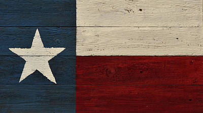 Photograph - Lone Star Flag by Nadalyn Larsen