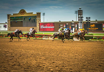 Robert Bellomy Royalty-Free and Rights-Managed Images - Lone Star Park Grand Prairie Texas by Robert Bellomy