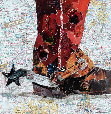Lone Star Spur Art Print by Suzy Pal Powell