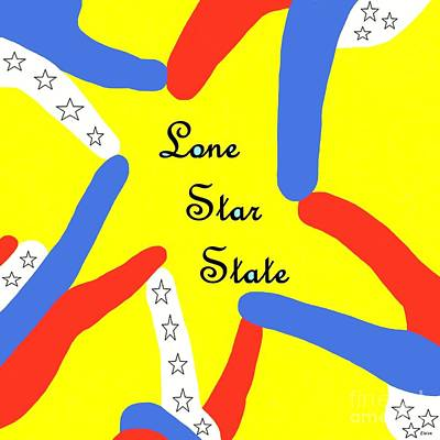 A Hand-thrown Painting - Lone Star State by Eloise Schneider