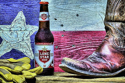Digital Art - Lone Star The National Beer Of Texas by JC Findley