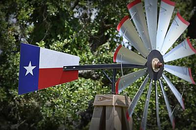 Photograph - Lone Star Windmill by Nadalyn Larsen
