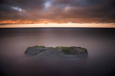 Photograph - Lone Stone At Sunrise by Adam Romanowicz