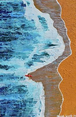 Painting - Lone Surfer by Elizabeth Langreiter