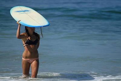 Photograph - Lone Surfergirl by Waterdancer